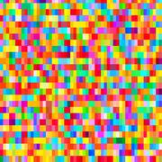 Colorful pattern with chaotic pixels - stock illustration