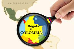 Focus in Colombia - stock illustration
