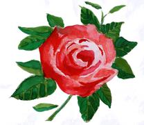 Red flower  a watercolor painting Stock Illustration