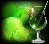 Magical Leprechaun drink Stock Illustration
