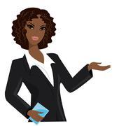 African american business woman,  cartoon vector illustration Stock Illustration