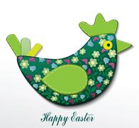 Easter card with hen Stock Illustration