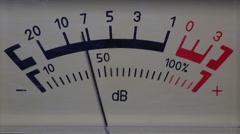Decibel meter - part of sound equipment Stock Footage