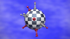 Chess Planet animation - stock footage