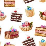 Stock Illustration of Tasty cakes