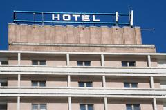Detail of multistory hotel Stock Photos