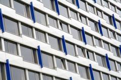 Windows of the multistory building - stock photo