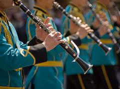Central Military Band of the Ministry of Defence of Kazakhstan at the Festiva - stock photo