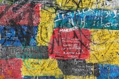 Detail of graffiti at Berlin wall Kuvituskuvat