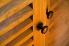 Detail of wooden furniture - doors Stock Photos