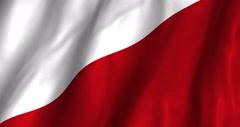 Poland Waving Flag-4K Stock Footage