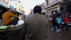 POV Rickshaw Ride Through the Streets of New Delhi, India Stock Footage