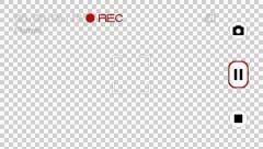 Smartphone Camera Recording Screen (Normal Mode) Stock Footage