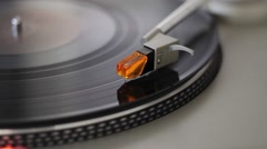 Turntable with professional lighting Stock Footage