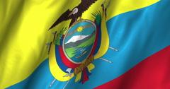 Ecuador Waving Flag-4K Stock Footage