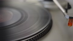 Turntabe Switch On Stock Footage
