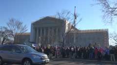People protest Supreme Court building Washington DC gay manifestation human USA  Arkistovideo
