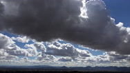 Stock Video Footage of 4K Thick Cloud Mass Glides Over Tucson Arizona Time Lapse