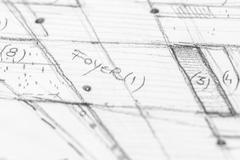 Architectural Pencil Sketch Stock Photos