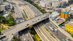 Tel Aviv and  Ayalon Freeway Stock Footage