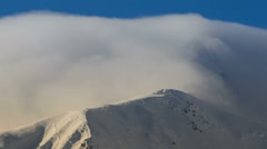 Serbota mountain ridge fog closeup HD Stock Footage