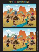Game for children Stock Illustration