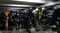 Stock Video Footage of Rescue services training. Evacuation from subway after terrorist attack.