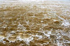 Windy water on rough sea Stock Photos