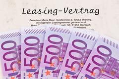 Euro notes and lease Stock Photos