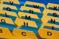 alphabetical index - stock photo
