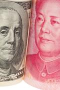 china business yuan and dollar - stock photo