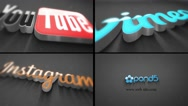 Stock After Effects of 3D Logo Energetic