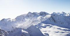 Winter panorama alps Stock Photos