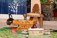 Traditional Ethiopian Coffee setup - stock photo