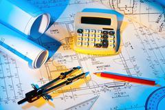 Blueprint of a house. construction Kuvituskuvat