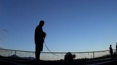 Dog walker, Laguna, Philippines Stock Footage