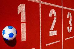 Tartan soccerball Stock Photos