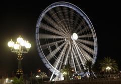 Eye of the Emirates - ferris wheel in Al Qasba in Shajah, UAE Stock Photos