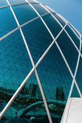 Stock Photo of ABU DHABI, UAE - NOVEMBER 5: Aldar headquarters building is the first circula