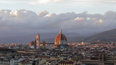 Panoramic view of the city of Florence, Tuscany Italy. Time lapse movie footage - stock footage