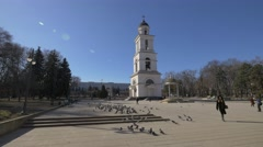 Orthodox Church in the city-center of Chișinău, Moldova Stock Footage