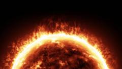 Sun star flame - stock footage
