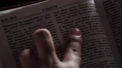 Book of the Bible Stock Footage
