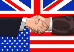 UK US deal - stock illustration