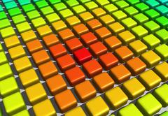 colour blocks - stock illustration