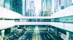 Time lapse of city crowded street. hong kong - stock footage