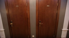 Two Doors in Hotel - stock footage