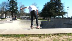 Portland Oregon Skateboard Park - stock footage