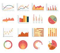 Elements for infographics, charts, graphs. flat style - stock illustration