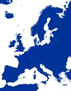 Europe Political Map Silhouette Stock Illustration